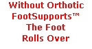 Without Orthotic FootSupports™ 